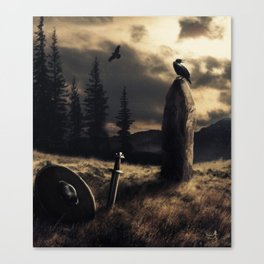 Ravens are watching Canvas Print
