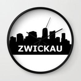 Zwickau Skyline Wall Clock