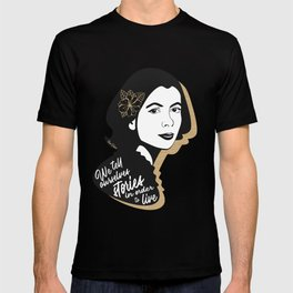 We Tell Stories - Joan Didion - Black & Gold T-shirt