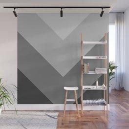 Gray Chevron Stripes Wall Mural