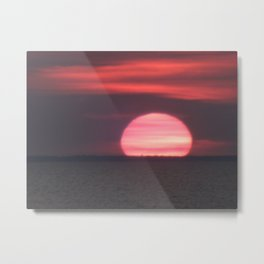 Sundown at Aboiteau Beach Metal Print