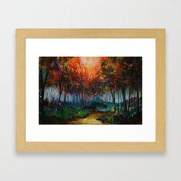 Spirit Trees Landscape Framed Art Print
