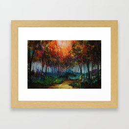 Spirit Trees Landscape Framed Art Print