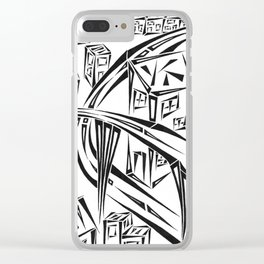 Town Circled By Roads Clear iPhone Case