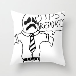 OFFICE GHOST Throw Pillow