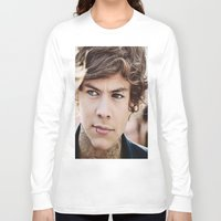 harry styles Long Sleeve T-shirts featuring Harry Styles by CelebrityMerch