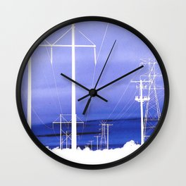 Electric blues Wall Clock