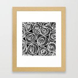 Midnight Roses Framed Art Print