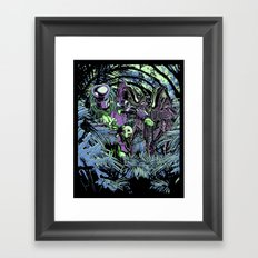 Welcome to the jungle (neon alternate) Framed Art Print