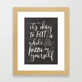 Pizza kitchen Framed Art Print