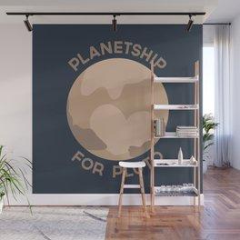 Planetship For Pluto Wall Mural