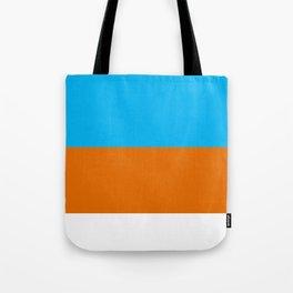 Square Tri-Color [Blue, Orange, White] Tote Bag