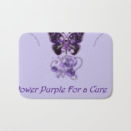 Power Purple For a Cure - For My Grandma Fantasy Bath Mat