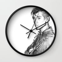 alex turner Wall Clocks featuring alex turner [2] by roanne Q