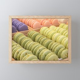 Delicious Macaroons Framed Mini Art Print