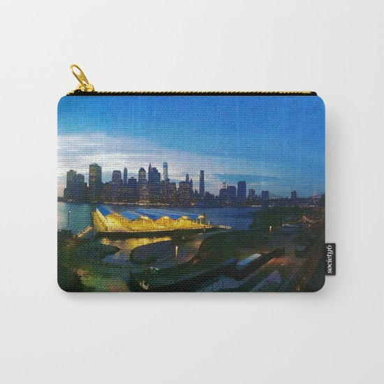 New York City as viewed from the Beautiful Brooklyn Heights Carry-All Pouch