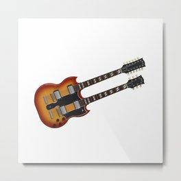 Double Neck Guitar Metal Print