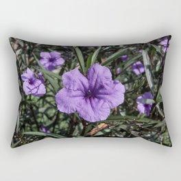 Purple Flower Bloom Rectangular Pillow