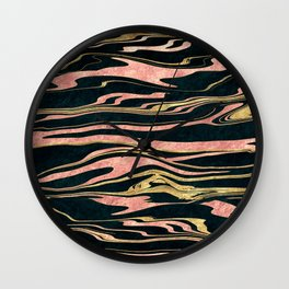 Classy abstract marbleized paint image Wall Clock
