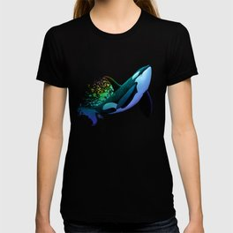 """The Dreamer Ascends"" by artist Amber Marine ~ (Copyright 2015) ~ Orca / Killer Whale Art T-shirt"