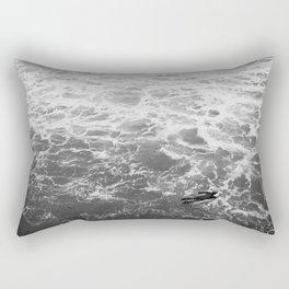 Surfer Aerial Manhattan Beach California Photography Rectangular Pillow