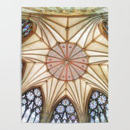 Chapter House at York Minster Poster