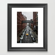 Iconic New York Taxi Framed Art Print