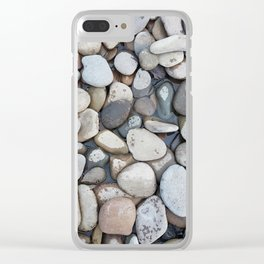 Small stones above the water Clear iPhone Case