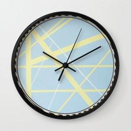 crossroads ll - diagonal line Wall Clock