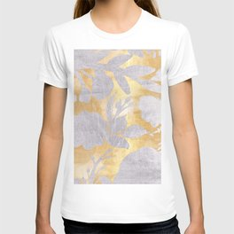 Gold and silver floral T-shirt