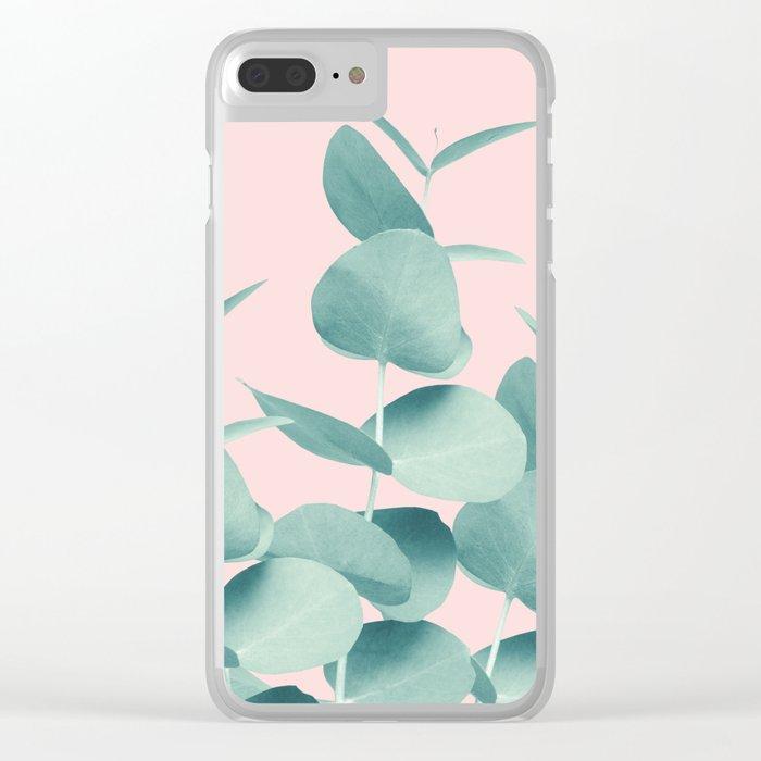 Eucalyptus Leaves Green Blush #1 #foliage #decor #art #society6 Clear iPhone Case