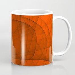 Fractal Eternal Rounded Cross in Red Coffee Mug