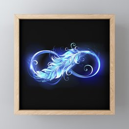 Fiery Symbol of Infinity with Feather Framed Mini Art Print