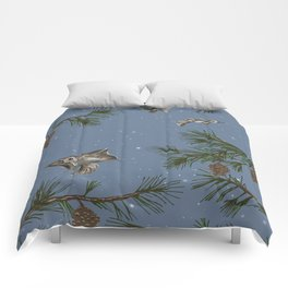 FLYING SQUIRRELS IN THE PINES (twilight) Comforters