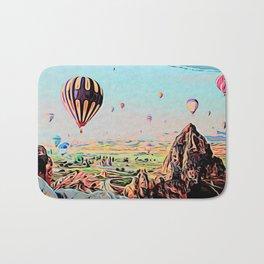 Cappadocia Otherworldly Ballooning Games Gas Event Mountain Country Bath Mat