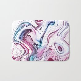 Liquid Marble - Pink and Blue Bath Mat
