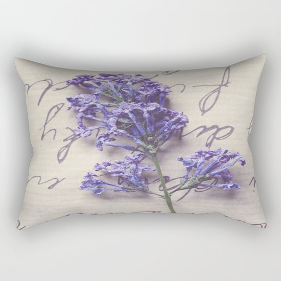 Love Letter With Lilac Rectangular Pillow
