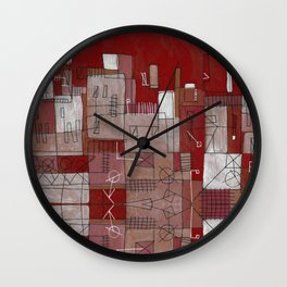 Red Seville in a Dream Wall Clock