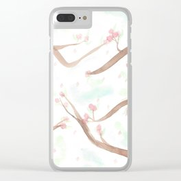 Simplistic Cherry Blossoms Clear iPhone Case