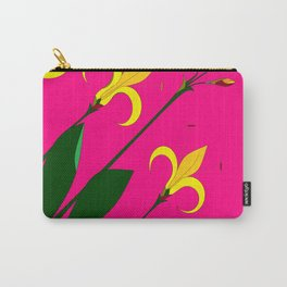 Yellow Lilies with the Sun in the Pink Sky Carry-All Pouch
