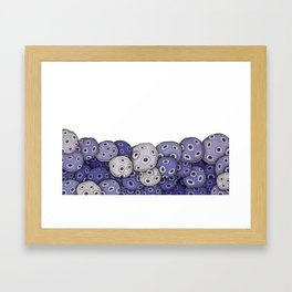 Organic Fruits Framed Art Print