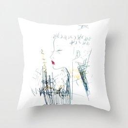 Mohawk Fantasy Throw Pillow