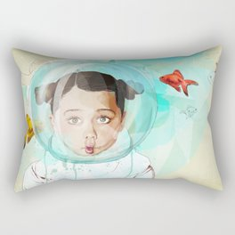 Fish Girl Rectangular Pillow