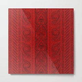 Maori tribal pattern – The Whakairo art of carving Metal Print