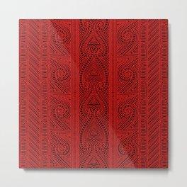 Maori tribal pattern – The Whakairo art of carving Metal Print