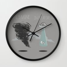 She's mine Wall Clock