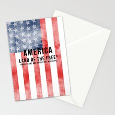 America: Land of the Free*  Stationery Cards