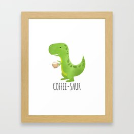 Coffee-saur Framed Art Print