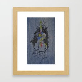 Color Is Music Framed Art Print