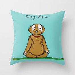 Dog Zen Throw Pillow